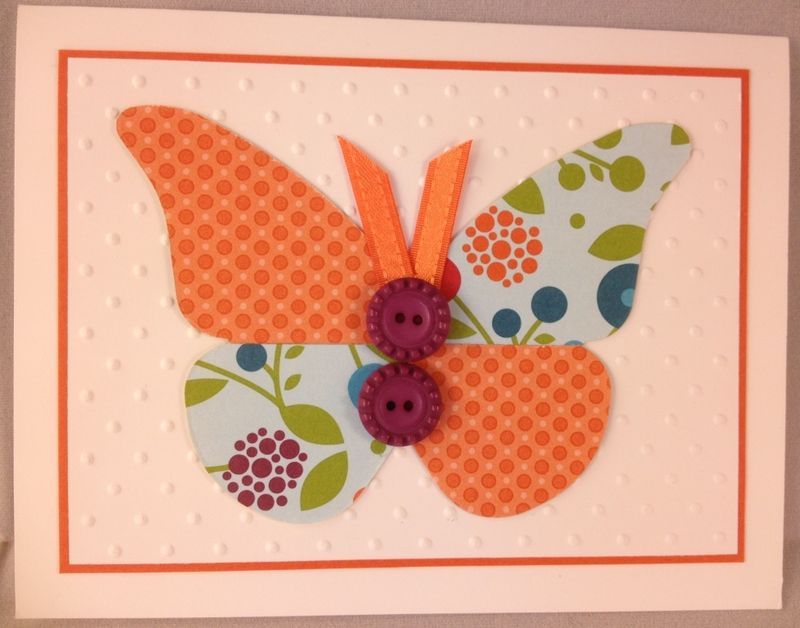 SAB Ribbon Button Brenda Butterfly