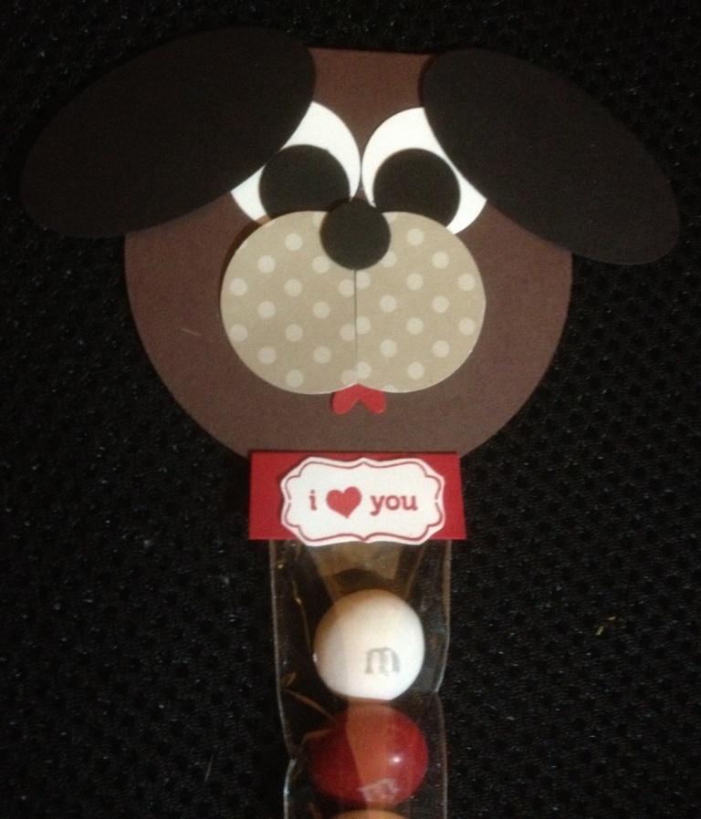 Puppy Valentine Treat Close Up